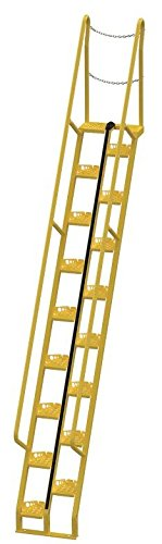 Vestil ATS-13-56 Steel Alternating Tread Stair with 21 Steps, 350 lbs Capacity, 114-1/8