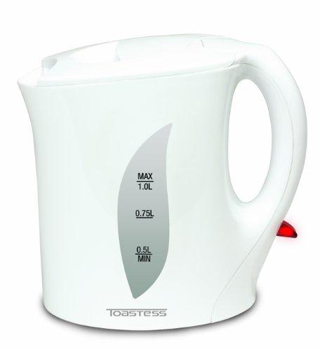 Toastess Tjk763W Electric Jug Kettle, 1-Litre, White