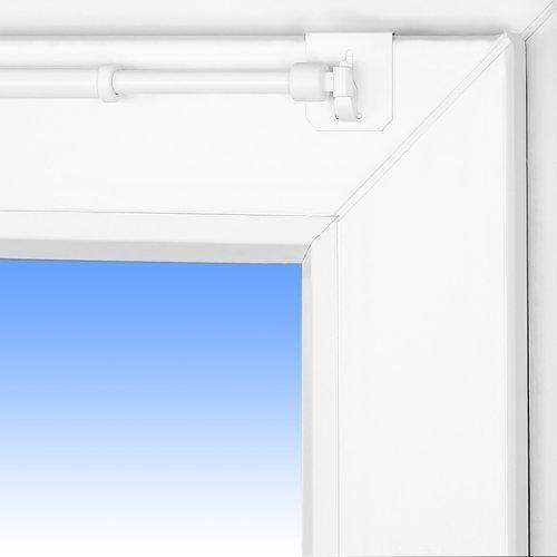 Barra para cortinas dise o 40 60cm extensible barra de for Barra cortina ducha angular sin tornillos