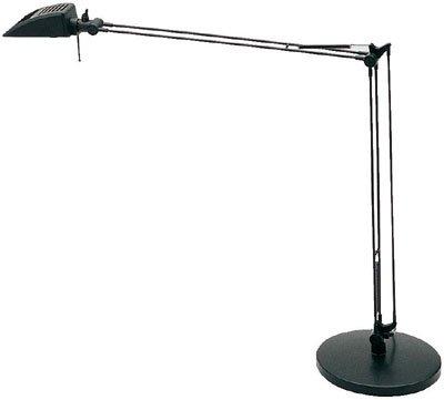 Lite Source LS 390BLK Synchro Synchro Halogen Desk Lamp, Black