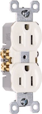 PASS & SEYMOUR 3232TU Pole 3 Wire Grounding Standard Duplex Outlet, 125V, 15-Amp, Brown