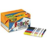 Crayola 588215 Fabric Marker Classpack, Nine Assorted Colors, 80 Set 9 different colors