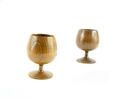 Moyishi Handmade Natural Solid Wood Wooden Wine Goblet Tea Cup Wine Mug 150Ml