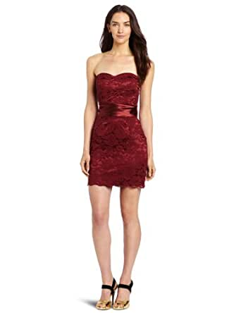 Miss Sixty Women's Ashton Dress, Ruby Wine, 12
