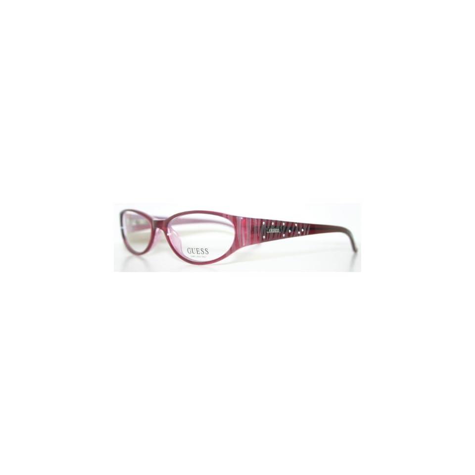 6da00bd0e389 GUESS 1565 BURGUNDY New Womens Eyeglass Frame on PopScreen