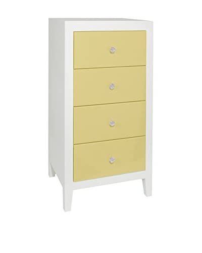 Three Hands Four Drawer Cabinet in Yellow