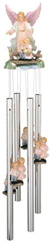 StealStreet Round Top Guardian Angel Hanging Garden Decoration Decor Wind Chime