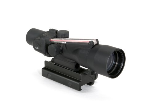 Trijicon Acog 3X30 Scope, Dual Illuminated Crosshair (.308 Winchester Ballistic Reticle), Red