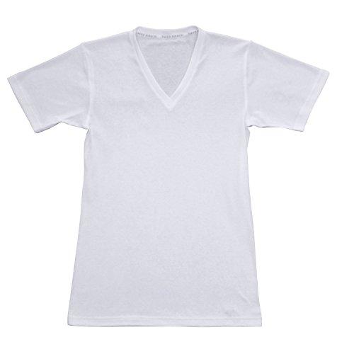 (タケオキクチ)takeo kikuchi(タケオ キクチ) 半袖Vネックシャツ 09033731 00 シロ M