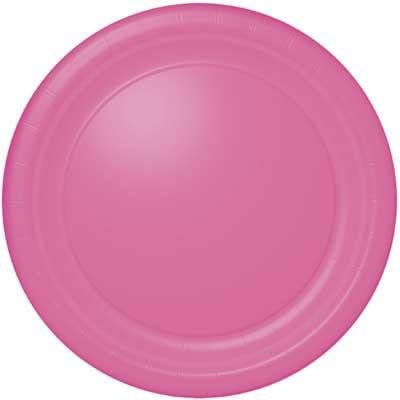 Hot Pink Banquet Plate 24 Count - 1
