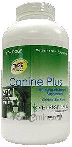 Canine Plus Chicken Liver Flavor 270ch by Vetri-Science