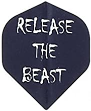 3 Sets of 3 Dart Flights - 1857 - Ruthless Black Release The Beast Double Thick Standard Flights