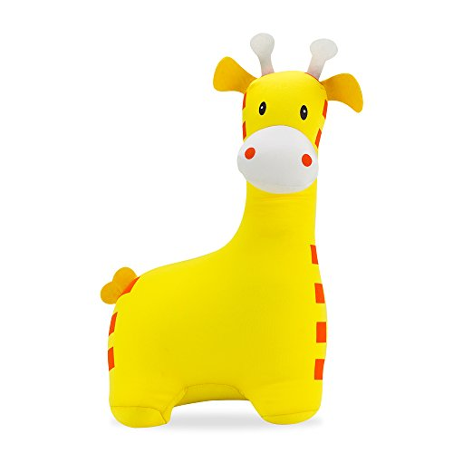 Vibrating Animal Neck Pillow : Giraffe Neck Pillow/Stuffed Animal Travel Pal by Satellas Perfect Travel Pillow for Any Age ...