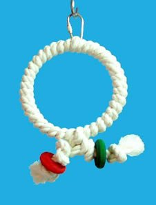 Zoo Max DUS43 Cotton Ring 4in Bird Toy