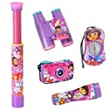 Dora the Explorer Adventure Kit - 4x28 Binoculars, Telescope, Directional Compass