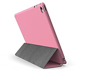 KHOMO iPad Mini 4 Case (Released September 2015) - DUAL Pink Super Slim Cover with Rubberized back and Smart Feature (sleep / wake feature) For Apple iPad Mini 4th Generation Tablet from ipad mini 4 case