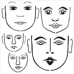 Bulk Buy: Crafters Workshop (3-Pack) Template 12\'X12\' Many Faces TCW-545