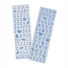 Martha Stewart Crafts - Christmas - Glitter Stickers - Alphabet - Small Winter Wonderland