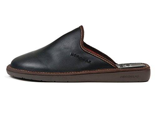 Pantofole pelle nero (43)