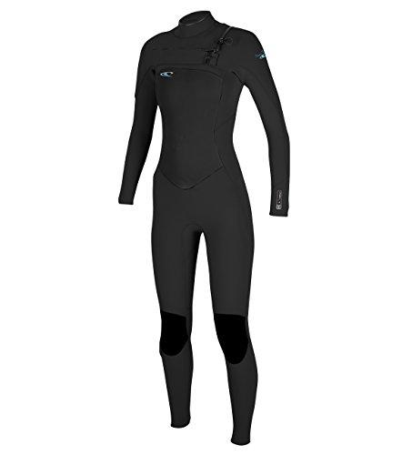 O'Neill Wetsuits Women's 4/3 mm Superfreak F.U.Z.E. Zip Full Suit, Size 10 Tall, Black