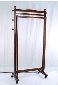 Apollo Folding Wooden Laundry Clothes Rack Casters Vintage Home Office Use New
