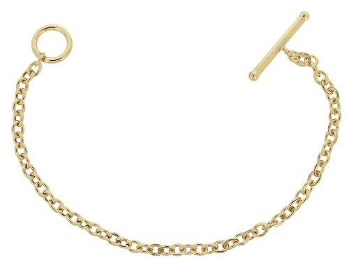 9ct Yellow Gold Ova Belch T Bar Ring Bracelet 19.2cm