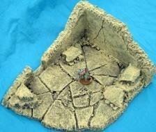 Cement Rubble Bldg B Sandstone Gaming Terrain