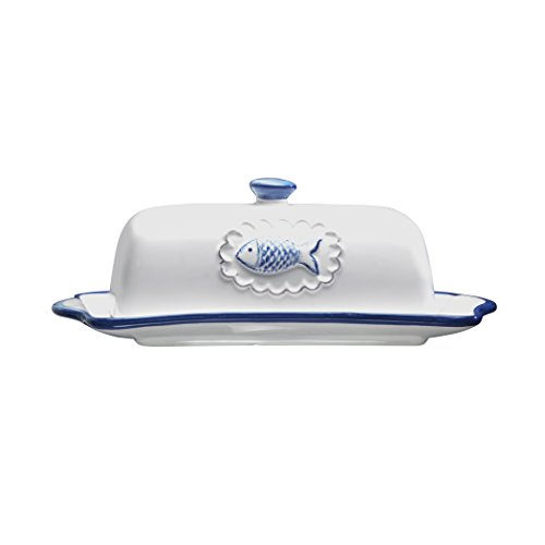 Amici San Remo Ceramic Collection Butter Dish with Lid (Butter And Sugar Dish compare prices)