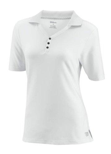 Wilson - Polo da donna W Rush, Bianco (bianco), L