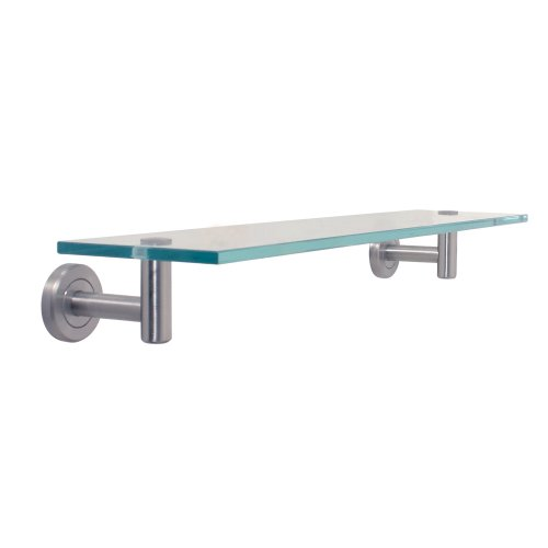 Gatco 4296 Latitude II 20-Inch Glass Shelf, Satin Nickel