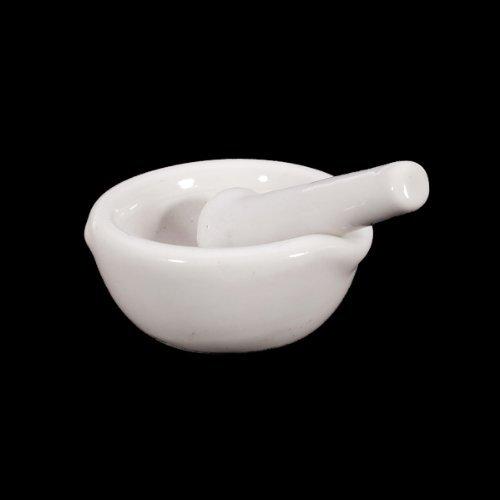 TOOGOO(R) 6ml Porcelain Mortar and Pestle Mixing Grinding Bowl Set - White
