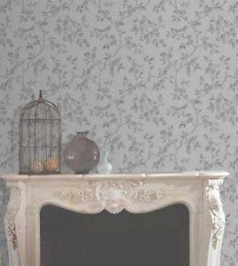 Fine Decor Beatrice Wallpaper - Silver by New A-Brend
