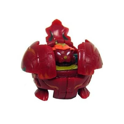 Bakugan Battle Brawlers Game Single LOOSE Figure Nova 12 Pyrus Tigrerra (Red)