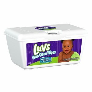 Luvs Ultra Clean Wipes, Tub, 72-Count (Pack of 8)