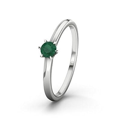 21DIAMONDS Mérida Women's Ring Emerald Cut Engagement Ring-14ct White Gold Engagement Ring