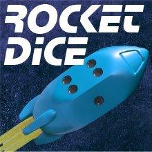 Rocket Dice d6 Pips - Blue - 1