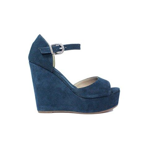 scarpe donna sandali con Zeppa alto femme plus N09-01 Cam. Chapagne Nuova Collezione Estate 2015 made in Italy