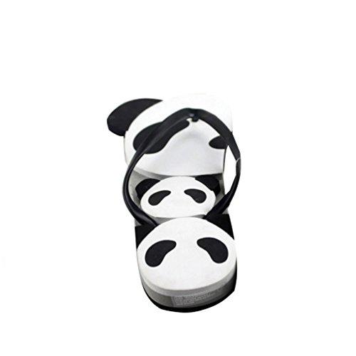 Baymate Unisex Adulto Infradito Bello Panda Modello Sandali Spiaggia Coppie Pantofole Bianco 40