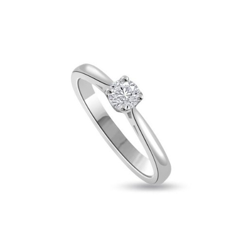 0.30ct F/VS1 Solitaire Diamond Engagement Ring for Women with Round Brilliant cut Diamonds in 950 Platinum
