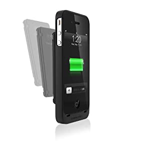 Third Rail Trio Slim Protective Case and Fuel Universal Rechargeable External Smart Battery Combo Kit for iPhone 4 and 4S