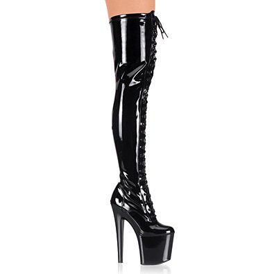 Pleaser Boots Women's TABOO-3023, 7 1/2 Stliletto Heel Stretch Platform Thigh Boot