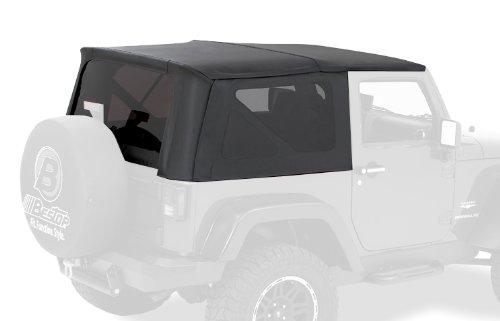 Bestop® 56804-35 Black Diamond Trektop(Tm) Complete Replacement Soft Top With No Doors Included- Tinted Windows- 2007-2012 Jeep Wrangler (Except Unlimited)