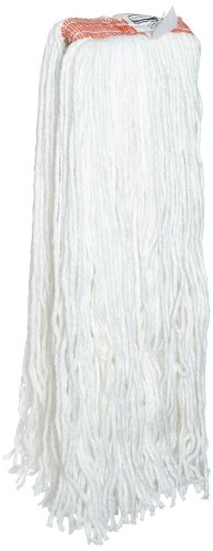 Rubbermaid Commercial Premium Cut-End Rayon Mop, 24-Ounce Size, 1-Inch Orange Headband, White (FGF41800WH00) (24oz Rayon Wet Mops compare prices)
