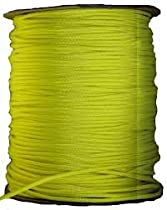 1000 Ft 550 Cord Paracord Spool - Type III Mil-Spec Commercial - 25+ Colors - Wholesale Paracord (Neon Yellow)