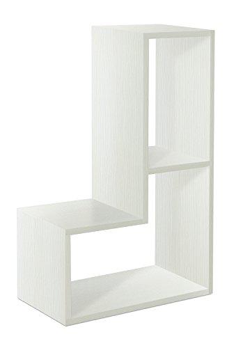 Tomasucci Tetris Elemento Modulare, Pannelli Ecologici di Particelle di Legno, Bianco