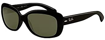 Ray-Ban Jackie Ohh RB 4101 Sunglasses Black / Crystal Green Polarized & Cleaning Kit Bundle
