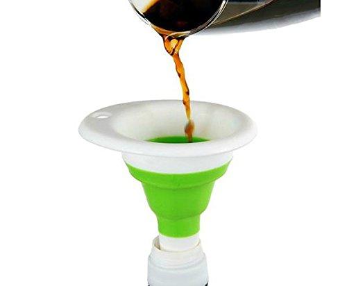 8 mm, in acciaio INOX, imbuto per tutti i Hip Flasks-Fiaschetta, tappo per bottiglie di vino, , bianco