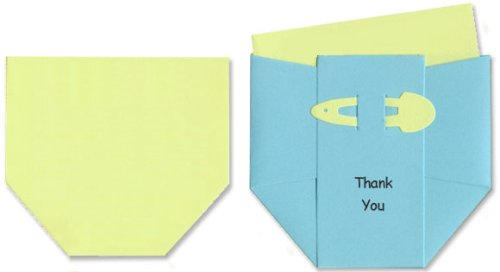 Baby Thank-you Cards - Blue Diapers