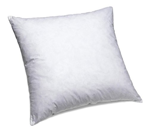 Review IZO All Supply 95% Feather 5% Down, Square Decorative Pillow Insert, Sham Stuffer, 18 W x 18...