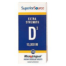 Vitamin D Extra Strength (10,000 Iu) 100 Tablets